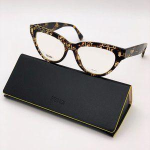 NEW Fendi FF 0443 2VM Cat Eye Havana Women Eyeglasses
